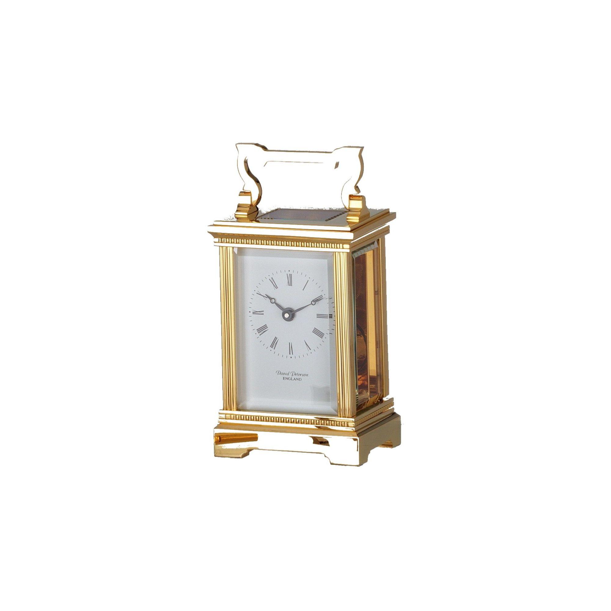 David Peterson Ltd 8 Day Anglais Corinthian Carriage Clock at Tesco Direct