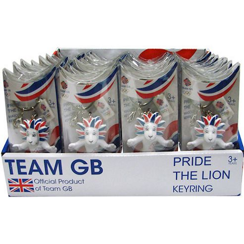 London 2012 Pride Lion Mascot - 32 Keyrings Value Pack