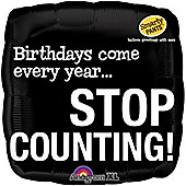 18' Smarty Pants Stop Counting Birthday Foil (each)