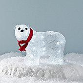 Light Up Polar Bear LED Christmas Figure with Red Bow