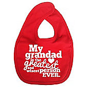 Dirty Fingers My Grandad is the Greatest Baby Bib Red