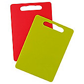 Tesco High Density Plastic Chopping Boards 2pk