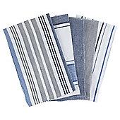 Pack of 5 Dobby Stripe Tea Towels