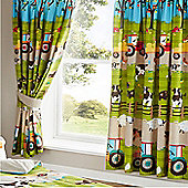 Farmyard, Kids Animal Pencil Pleat Curtains 72s