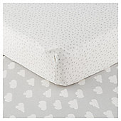 Tesco Elephant 2pk Cot Bed Sheets