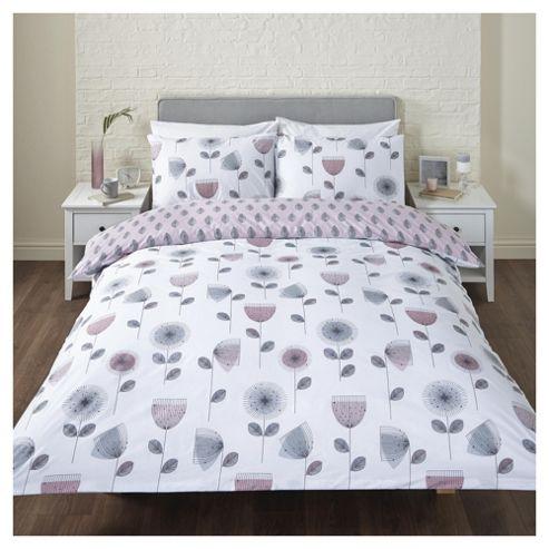 buy retro floral double duvet set from our double duvet. Black Bedroom Furniture Sets. Home Design Ideas