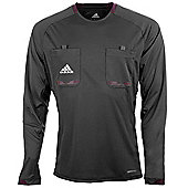 adidas Mens Black Long Sleeved Formotion Referee Shirt Jersey - Black