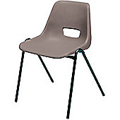 Jemini Stacking Chair Polypropylene Grey