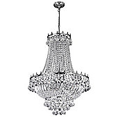 Crystal Chandelier Lighting Fitting with Polished Chrome Frame