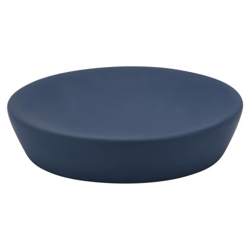 Tesco Rubber Touch Soap Dish Blue