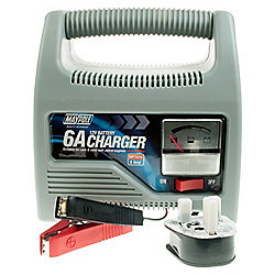 Battery Charger 6 amp - suitable for engine sizes up to 1800cc