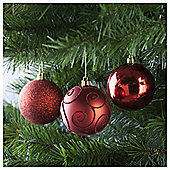 Festive Red Baubles, 6 Pack