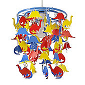 Dinosaurs Ceiling Pendant Light Shade in Multi Coloured