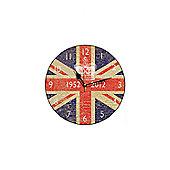 Smith & Taylor Union Jack Vintage 1952-2012 Round Wall Clock