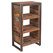 Oceans Apart Recycled Boat 3 Open Shelves High Chest