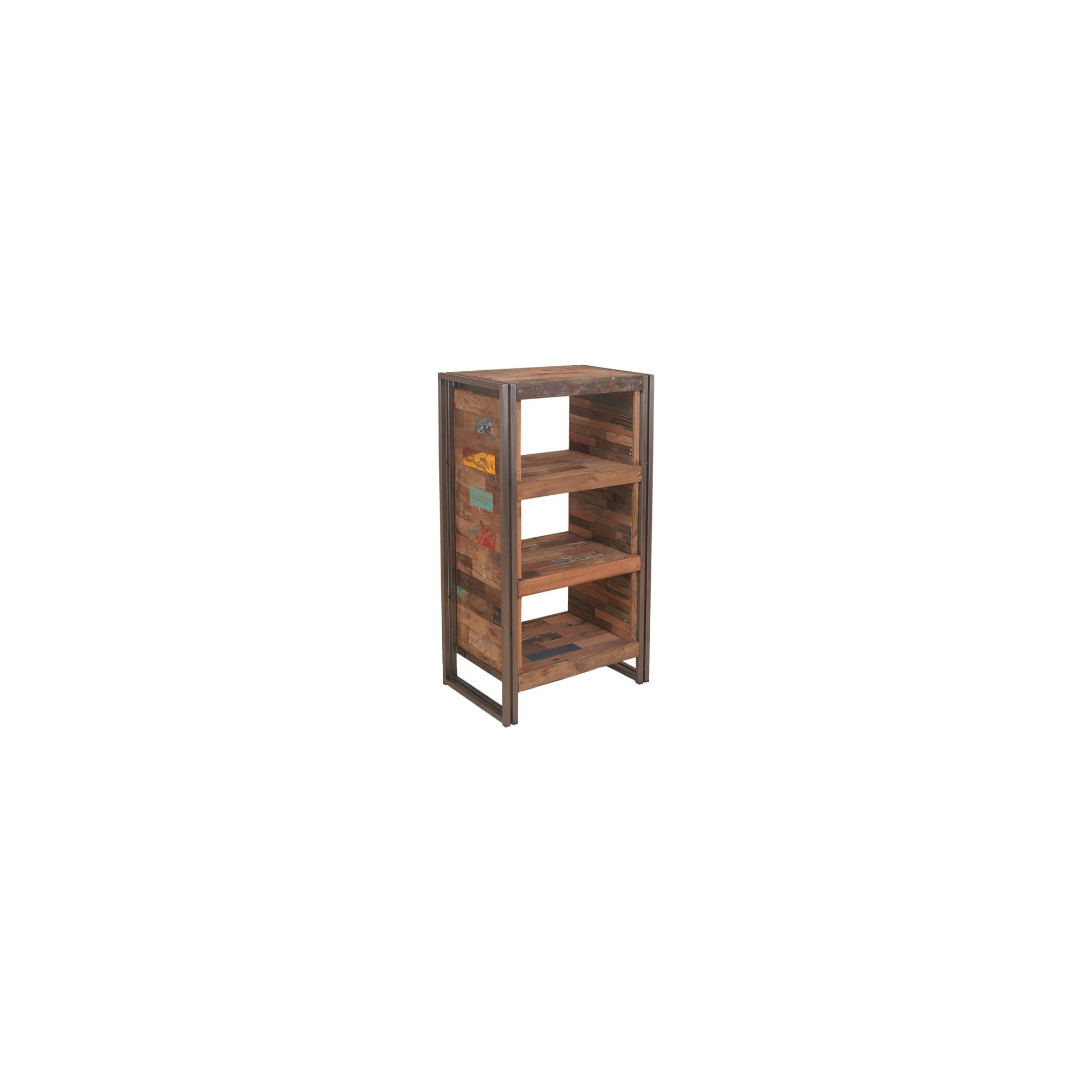 Oceans Apart Recycled Boat 3 Open Shelves High Chest at Tesco Direct