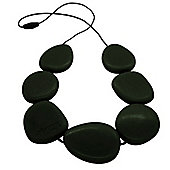 Jellystone Teething Necklace in Smokey Black