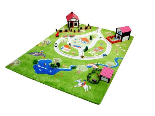 Littler Helper Thick 3D Playmat & Rug Farm Theme (100X150Cm)