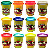 Play Doh - 12 Pots (12 Different colours)