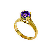 QP Jewellers 1.10ct Amethyst Solitaire Ring in 14K Gold