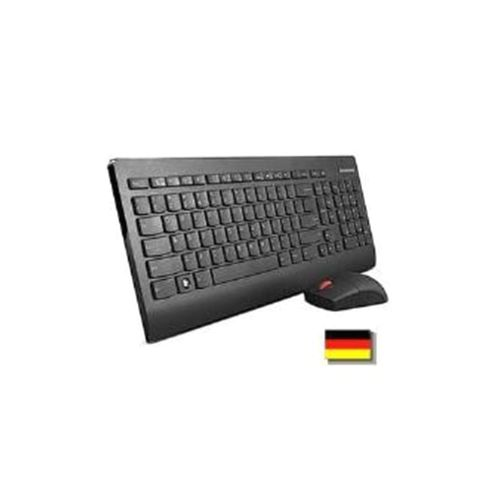Lenovo Ultraslim Plus Wireless Keyboard and Mouse (Black) - German