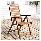 Windsor Wooden Folding Recliner Chair