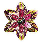 Iron Stop Designer Gazing Ball Flower Wind Spinner 10in