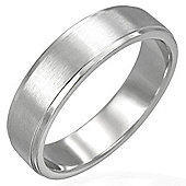 Urban Male Men's Stainless Steel Ring Brushed Finished 8mm Band