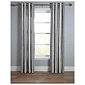 Tesco Ticking Stripe Lined Eyelet Curtains - Navy