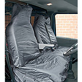 """Grey WR Nylon Van Seat Covers """"Air Bag Friendly"""""""