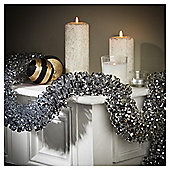 Festive 2M X 125Mm Pure Luxury Loop Tinsel Silver