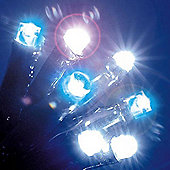 17.5m Set of 176 Mixed Electric Blue & Ice White LED Fairy Lights