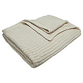 Tesco Chunky Knit Throw Cream