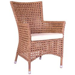 Alexander Rose Manila Open Weave Armchair - White