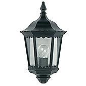 Endon Lighting Cast Aluminium Outdoor Wall Lantern in Black