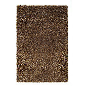 Husain International Plain Caramel Woven Rug - 150cm x 90cm (4 ft 11 in x 2 ft 11.5 in)