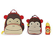 Skip Hop Zoo Pack, Lunch Bag and Straw Bottle Set Monkey