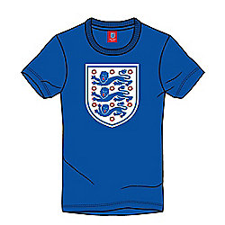 England Football Kids Large Logo Crest Tee - Blue