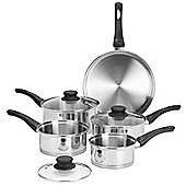 VonShef 5 Piece Stainless Steel Pan Set