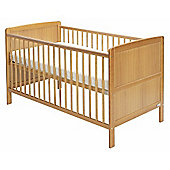 Baby Elegance Travis Cot Bed + Mattress (Antique)