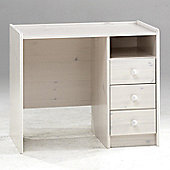 Home Essence Kids Three Drawer Desk in White