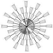 Premier Housewares Square Edge Sunburst Mirror Wall Clock