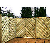 6FT Pressure Treated Chevron Weave Panels - 1 Panel Only 6'