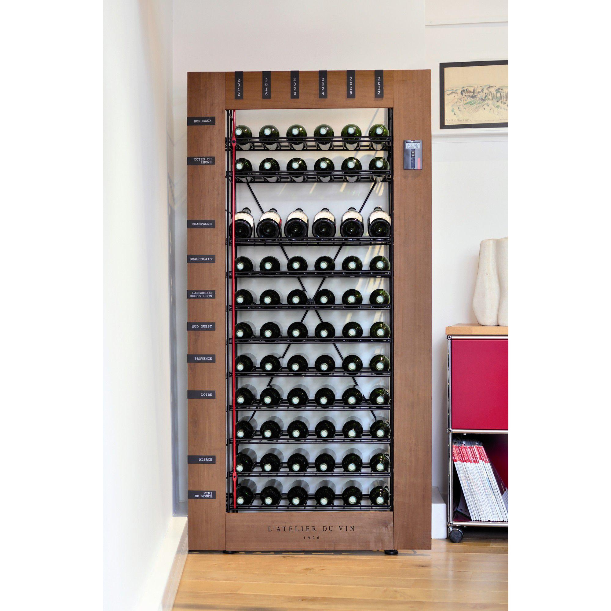 L'Atelier du Vin Storing Les Caves Smart Cellars Basic Unit (66 Bottles) at Tesco Direct