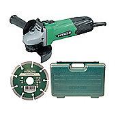 Hitachi G12SSCD 115mm Grinder with Diamond Blade & Case 240 Volt