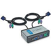 D-Link DKVM-2K 2-port KVM with Built-in Cables