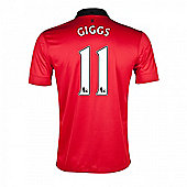 2013-14 Man United Home Shirt (Giggs 11) - Kids - Red