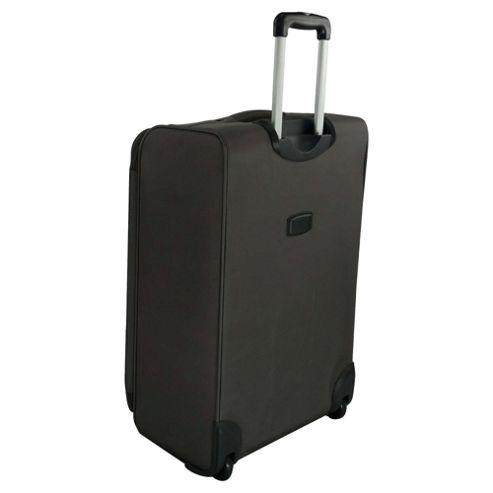 buy tesco 2 wheel ultra lightweight suitcase grey small. Black Bedroom Furniture Sets. Home Design Ideas