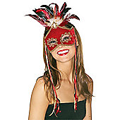 Rubie's Fancy Dress Costume - Bird Of Paradise Red Mask - Adult