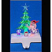 Battery Operated Snowman witrh Tree & Present Stocking Holder